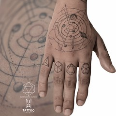 Astronomical Hand Tattoo (13.22 Tattoo Studio) Tags: mr j best sourgrapestattoo tattoo london nw6 art single needle fineline thin blackwork 1322 studio abstract linework geometry geometric astrology astronomical planets hand sacred finger solar system artist custom detailed