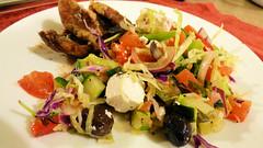Dinner is . . . (Sandy Austin) Tags: panasoniclumixdmcfz70 sandyaustin westauckland auckland newzealand northisland food meat lamb salad homecooking airfryer airoven