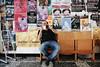 Poster man (polybazze) Tags: coffe phone chair poster man sitting wood break pause fujifilm fujifilmx100t x100t classicchrome