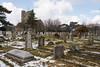 Ramsgate Cemetery - Twin Chapels & Tombs (Le Monde1) Tags: ramsgate kent england ramsgatecemetery county graves tombs tombstones headstones lemonde1 nikon d800e dumptonpark snow georgegilbertscott nonconformist anglican twin chapels