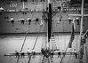 hanging on-2 (Mariasme) Tags: blackandwhite monochrome yacht battleship sydney mast challengeyouwinner cyunanimous