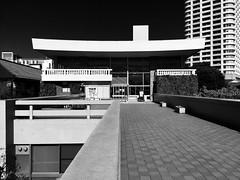Rikkyo University, Ikebukuro, Tokyo (gt223) Tags: blackandwhite bw concrete architecture modern urban city tokyo ikebukuro rikkyouniversity rikkyo university
