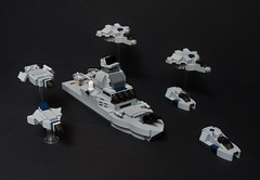 Patrol Vessel - Combined Ops (The Legonator) Tags: lego ship boat vessel military navy marines warship micro microscale naval mini fleet