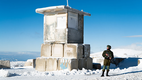 Snow in the Golan Heights 2018