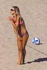 Discrete? (Kevin MG) Tags: manhattanbeachpier adjustment ball beach bikinis cute girl kid little pretty sand sunglasses tan teen young youth