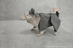 37/365 Sheepdog by Seth Friedman (origami_artist_diego) Tags: origami 365days 365origamichallenge dog sheepdog papiroflexia paperfolding