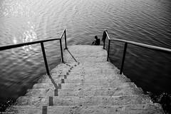 Solitude II (abrarhayat) Tags: lake river streetshot streetlife silhouette bnw solitude ruralexploration visualsoflife visualsgang createexplore reflection lifestylephoto lifestyle highcontrast ttlbd bangladesh nikonphotography nikkorlens nikkor nikon