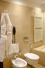 Toilet and bidet (A. Wee) Tags: milano lombardia italy it milan 米兰 意大利 crowneplaza hotel 酒店 皇冠假日 bathroom toilet bidet