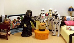 No Barfing Allowed on the Death Star (ChicaD58) Tags: dscf2957b starwarsactionfigure actionfigure stormtrooper clonetrooper emperorpalpatine stormtrooperbruce stb tk1110 tk432 chunkycrabpudding dessertofthemonth tv plant bed pillow tray dishes mugs lamp napkins tissue endtable pizza brewskies coffeemaker jeweledheartbox comemmorativedarthbottleofscotch happyvalentinesday