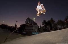 Alfredo Garcia - Polejam Indy Backside (Silvio Rodrigo Mendez) Tags: sky jump skateboarding fisheye strobist chile viña skate
