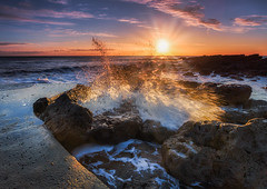 Sunlight Reflections (peterwilson71) Tags: sunrise waves rocks reflections clouds sun seaham splash canon6d beautiful seashore exposure flow sky
