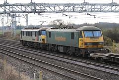 90047 90046 @ Chorlton Lane Nr Crewe (uksean13) Tags: 90047 90046 freightliner freight electric cheshire crewe chorltonlane canon 760d ef70200mmf4lusm train railway