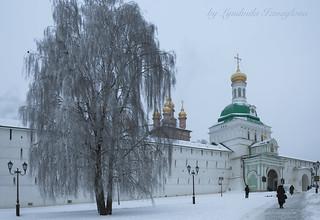 The main entrance to the Trinity Sergius Lavra