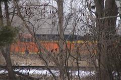 Foreign power at Webberville, MI (douglas randall thayer) Tags: douglasthayer canon canont6i tamron18200 webberville adm railroad locomotive bnsf santafe
