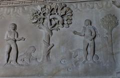 Adam und Eva (wpt1967) Tags: adamundeva baumdererkenntnis bruglüddinghausen eos60d einhorn kamin löwe schlange bibel canon28mm snake