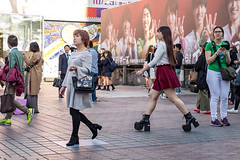 Mess With Her, Get Stomped (burnt dirt) Tags: asian japan tokyo shibuya station streetphotography documentary candid portrait fujifilm xt1 laugh smile cute sexy latina young girl woman japanese korean thai dress skirt shorts jeans jacket leather pants boots heels stilettos bra stockings tights yogapants leggings couple lovers friends longhair shorthair ponytail cellphone glasses sunglasses blonde brunette redhead tattoo model train bus busstation metro city town downtown sidewalk pretty beautiful selfie fashion pregnant sweater people person costume cosplay red white big large huge