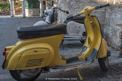 Vespa (frattonparker) Tags: nikond90 nikkor18300mmvr raw lightroom6 btonner frattonparker rhodos rhodes scooter scooters thebestyellow