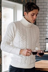 Husband in cabled t-neck (Mytwist) Tags: careofcarl care carl mens outfit knitwear knit style fashion tn tneck wool fetish retro classic craft winter women sweater design love girl wife