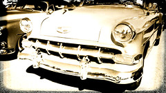 Chevy BelAir faded sepia capture (delmarvausa) Tags: alteredart perspective artistic art altered unusual delmarva delmarvapeninsula carshow carshows car classics automobile classiccars vintage chevybelair chevrolet sepia monochrome faded chevy oldchevy belair fifties carsofthe1950s 1950s 50s vintageautomobile vintagecar classic oldcars classicautomobile