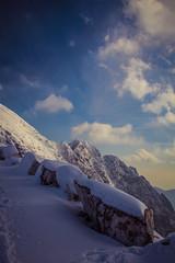 OK Pubb J -0187 (FaSaNt) Tags: snowfall snow mountain mountainpeack mountaintop mountainside path pathway trail track cloud cloudy fog foggy weather sun sunlight sky blue landscape panorama scene scenery alpiapuane alpi alps apuans carrara tuscany italy