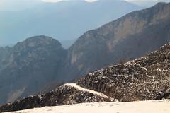 OK Pubb J -0160 (FaSaNt) Tags: snowfall snow mountain mountainpeack mountaintop mountainside path pathway trail track cloud cloudy fog foggy weather sun sunlight sky blue landscape panorama scene scenery alpiapuane alpi alps apuans carrara tuscany italy