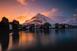Arnarstapi winter sunset