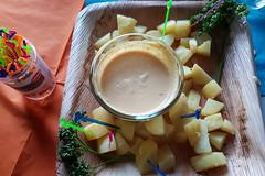 Papa a la Huancaína (Peruanische Kartoffeln mit Käsesauce) (multipel_bleiben) Tags: essen zugastbeifreunden kartoffeln dip käse vegetarisch