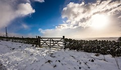 Gate (Phil-Gregory) Tags: naturalphotograph naturalphotography naturephotography natural national nature nationalpark countryside color country contrast gate snow peakdistict peakdistrict eyam colours clouds sun light