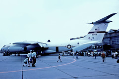 66-0168   Lockheed C-141B Starlifter [6194] (United States Air Force) RAF Mildenhall~G 04/07/1976 (raybarber2) Tags: 6194 660168 approach cn6194 cancelled egun flickr jettransport slide usamilitary