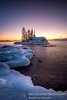 Winter Dawn at the Tombolo 2 (susannevonschroeder) Tags: lakesuperior bluehour ice island longexposure northshore sky sunrise winter minnesota dawn