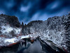 Götterdämmerung (Gio_ guarda_le_stelle) Tags: winter night nightscape ice frozen ghiaccio sila notte freddo trees mountain mountainscape