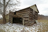 Park Log House (?) — Blendon Township, Franklin County, Ohio (Pythaglio) Tags: log dwelling residence historic house outbuilding barn vacant abandoned park westerville ohio blendontownship franklincounty singlepen 15story altered steeplenotching logs hewed hewn addition collapsing