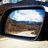 (jimiliop) Tags: view mirror car road mountain snow rural village greece winter roadtrip feneos