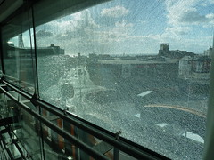 20180317 Broken Window in Blackpool (blackpoolbeach) Tags: blackpool sainsburys supermarket superstore laminated glass window broken safety tower