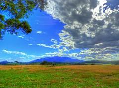 Gulaga mountain (elphweb) Tags: hdr highdynamicrange nsw australia farm farms farmland rural dairy sky skies cloud clouds mountain mountains range ranges