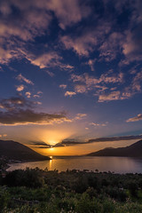 Sunset time (Vagelis Pikoulas) Tags: sun sunset rays sky clouds cloudy cloud porto germeno greece europe march 2018 landscape sea seascape tokina 1628mm canon 6d