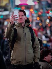 I got you (SteveMcD) Tags: tktsstairs streetphotography timessquare selfie bokeh nyc newyork unitedstates us