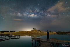 Reaching out to the stars (leslie hui) Tags: bintan selfie selfportrait sonyalpha milkyway laowa12mm laowa reflection stars sonya7rii astrography nightscape indonesia indo astro night