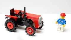 Indian Tractor Mahindra (Updated MOC - 4K) (František Hajdekr) Tags: lego buildingblocks tip help tips inspiration design moc myowncreation toy model buildingbricks bricks brick builder buildingtoy india indian tracot agro agriculture vehicle mahindra red minifigure figure minifig city update updated easy simple simply forkids basic chassis axle technic