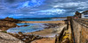 Plage de l'Éventail (Javier PerezZ) Tags: jetty riverbank coastline horizon over water bay idyllic pier beach boardwalk seascape castle wall