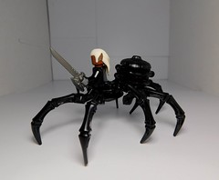 driderqueen (3) (LegoKlyph) Tags: lego custom bricks blocks mini figure spider dd dungeons dragons drow