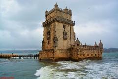 Torre de Belem (estefiavilam) Tags: torredebelem photography beautifulphoto beautiful travel lisboa portugal nikon nikond5200 landscape sea este clouds
