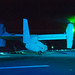MV-22 Osprey conducts night operations aboard USS Wasp in the East China Sea