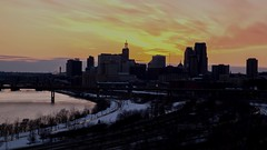 Saint Paul Skyline - TImelapse Day to Night (Gian Lorenzo) Tags: architecture bridge building capitol city citylife citylights cityview cityscape commercial daytonight dusk establishing establishingshot europe evening hyperlapse landmark landscape lapse lights longexposure minnesota night nopeople old panorama panoramic realestate reflection river rushhour saintpaul seamlesslooping sky skyline sunset time timelapse tourism tower transition travel twilight twincities urban urbanscene urbanization usa view water