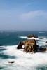 Enys Dodnan (richardsolway) Tags: sea ocean water waves arch rock cliffs land landsend enys dodman cornwall