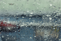 wet snow (mariola aga) Tags: winter car windshield window glass snow rain wet closeup pastel colors abstract art coth coth5 saariysqualitypictures