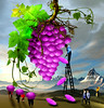 Grape & umbrellas (jaci XIII) Tags: uva sombrinha pessoa paisagem surrealismo grape umbrella person landscape surrealism