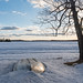 Canoe in the snow - Bear Head Lake State Park, Minnesota