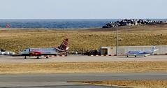 Saab 340 & US Army Cessna _MG_0128 (Ronnierob) Tags: cessnauc35a cessnacitationii usarmy n50123 sumburghairport saab340 royalmail glgnn 50123