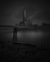 Inspirations (jellyfire) Tags: architecture buildings city distagont3518 landscape landscapephotography london londonbridge sony sonya7r thames water ze zeissdistagont18mmf35ze atmospheric cityscape clouds commercial dark industry moody river shard tourism unitedkingdom wwwleeacastercom zeiss